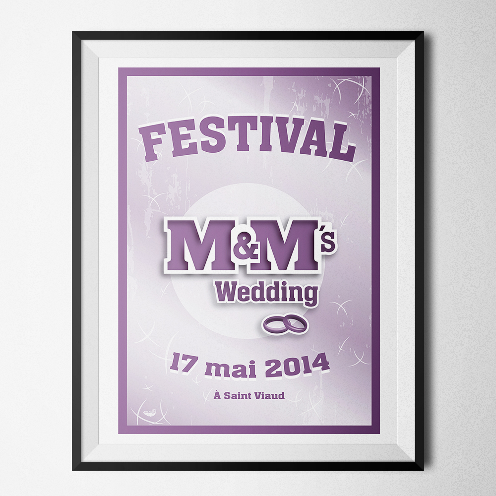 Affiche du festival M&M's Wedding