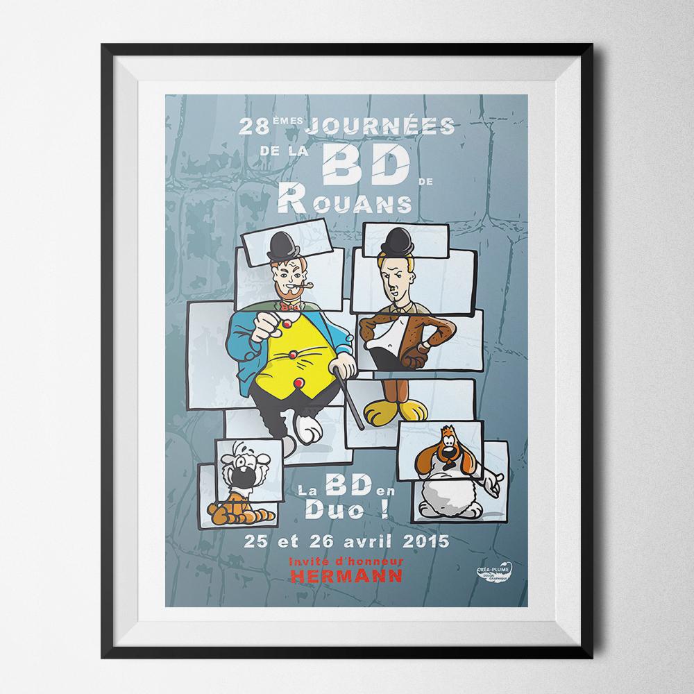 Affiche des Journées de la BD 2015