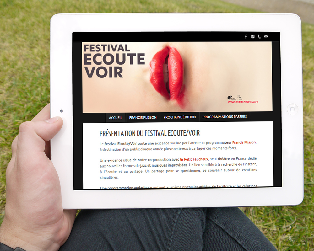 Site web www.festivalecoutevoir.com