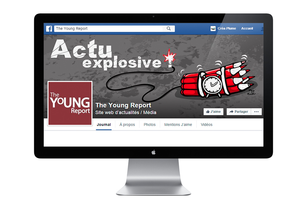 Bannière Facebook de The Young Report