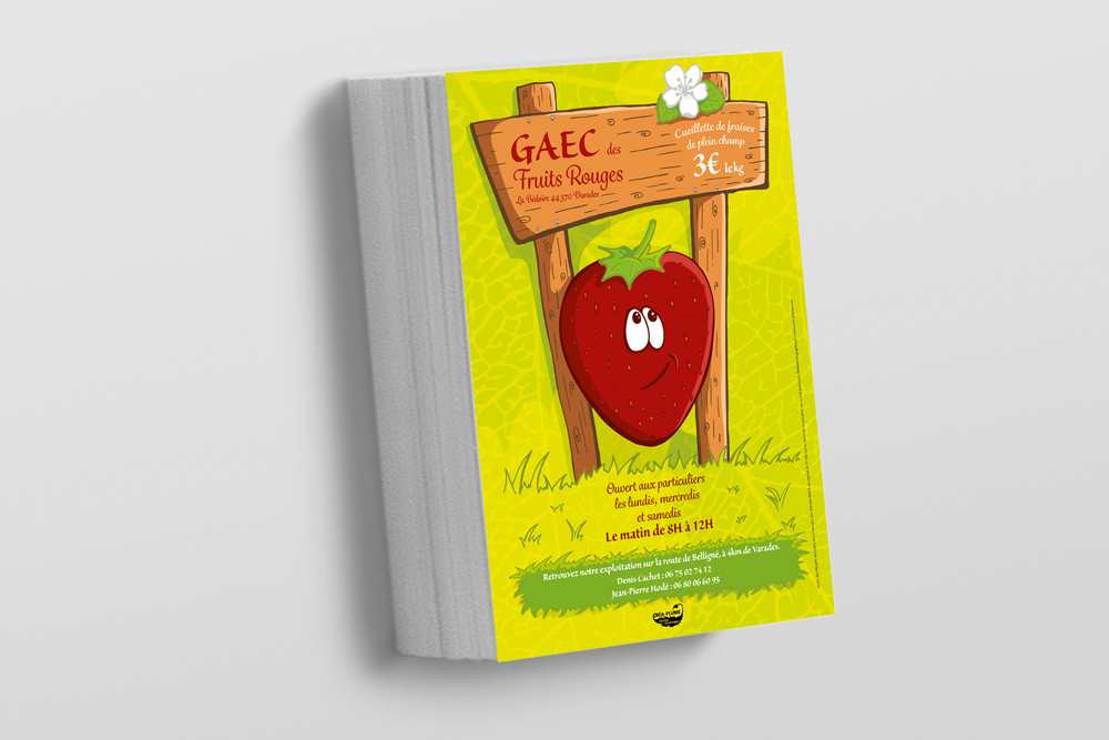 Flyer du GAEC des Fruits Rouges