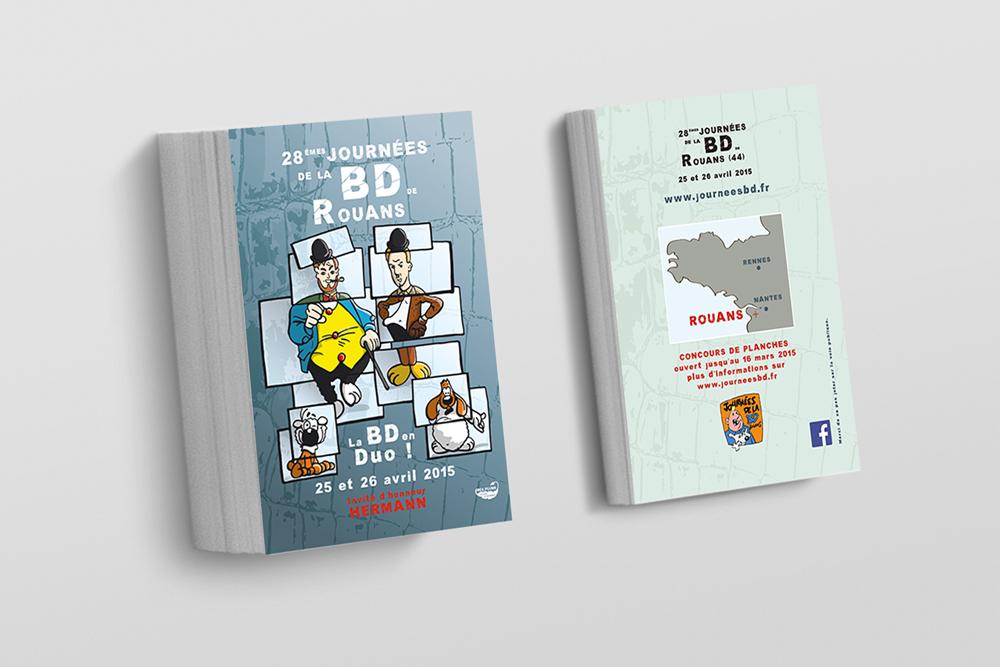 Flyer des Journées de la BD 2015