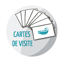 Icone Cartes De Visite Crea Plume Design Graphique Conception Supports Communication
