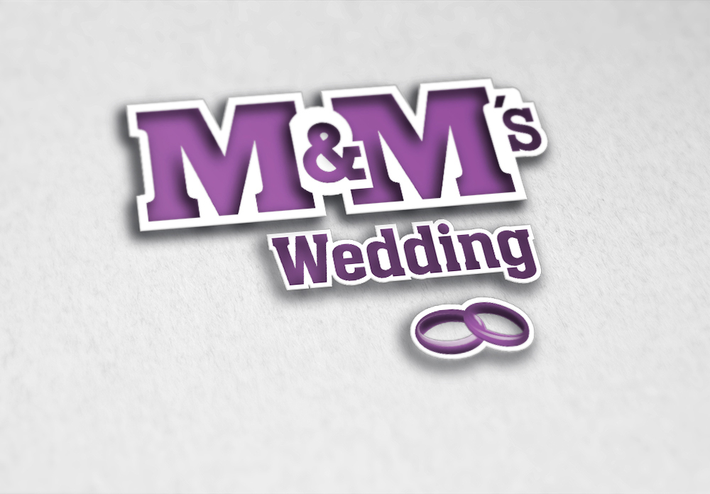 Logo de M&M's Wedding