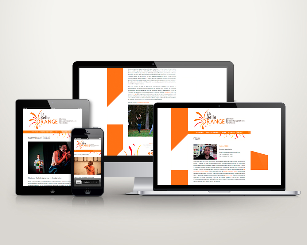 Site Web La Belle Orange