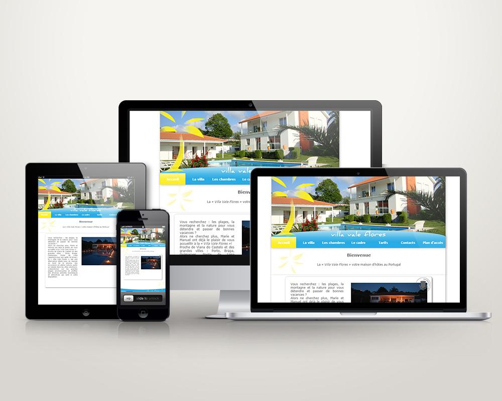 Site web www.villavaleflores.com